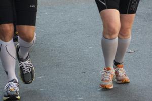 Kompression beim Laufen; Bildquelle: Marco Heibel